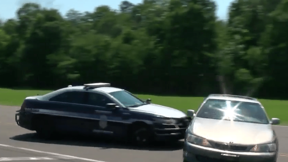'Pit' maneuver demo conducted by Fairfax County Police at training facility   WJLA