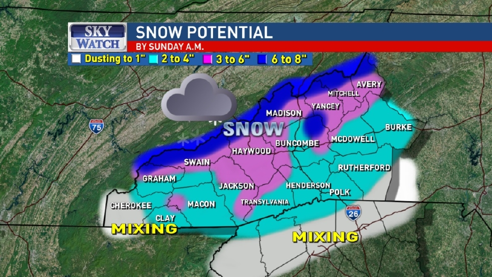 SNOW POTENTIAL Storm watch now a winter storm warning for