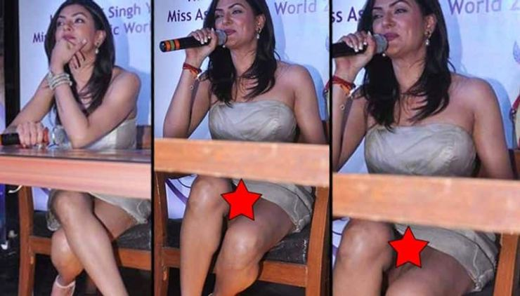 Sushmita Sen: At an event, the actress confirmed that women wearing short dresses might invite embarrassment if an ideal position is not maintained because Sushmita exposed her undergarments to the photographers who covered the event.