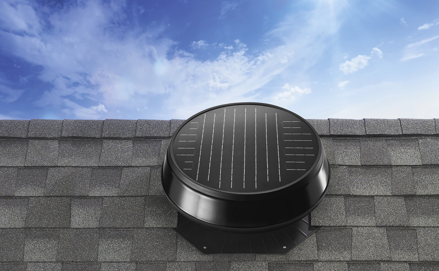 hight resolution of image of a solar powered attic fan
