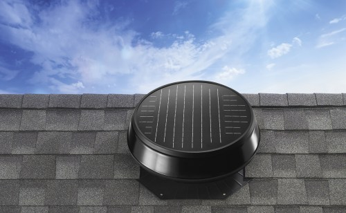 small resolution of image of a solar powered attic fan