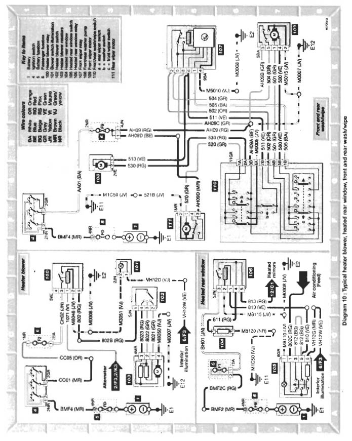[NF_0626] Xantia Electrical Diagram Schematic Wiring