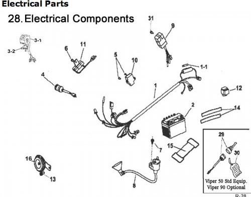 [EY_9447] Eton Thunder 90Cc Atv Wiring Diagram Schematic