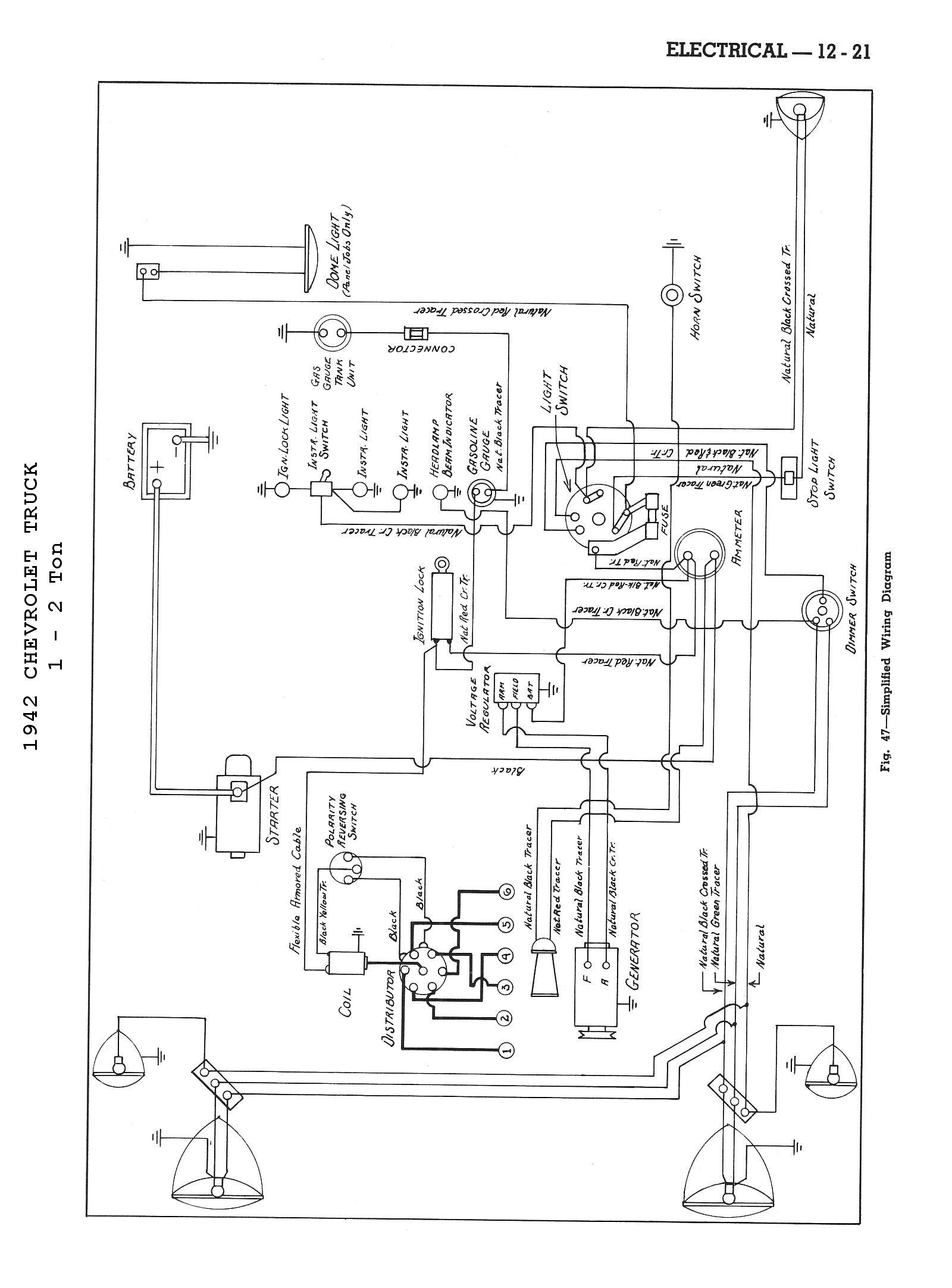 1946 Chevy Pickup Ignition Wiring Diagram Schematic