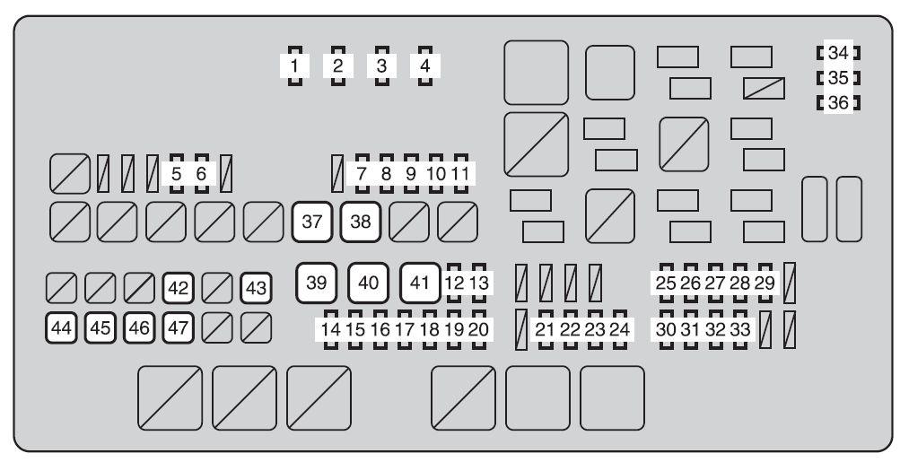 [DO_7703] 2003 Toyota Highlander Fuse Box Diagram Auto