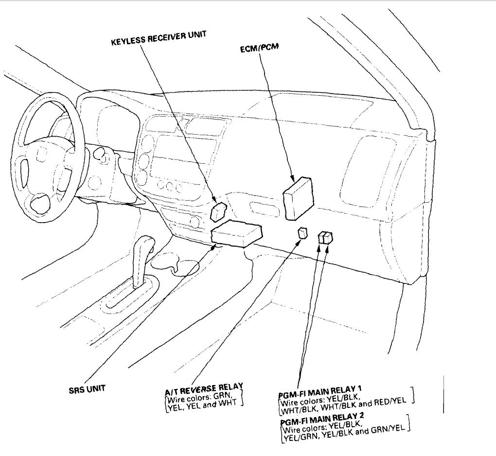 93 Honda Civic Main Relay Wiring Diagram / No Start Honda
