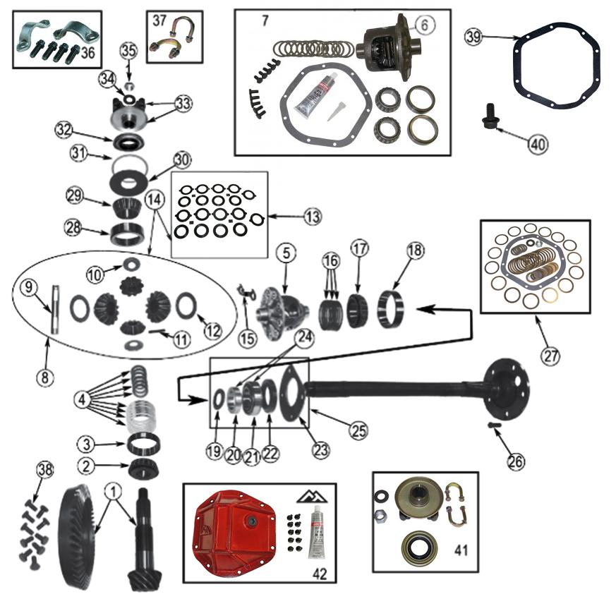 [DB_1396] Dana 44 Front Axle Diagram Schematic Wiring
