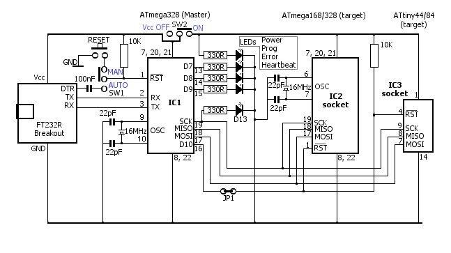 [WX_1288] Pic Icsp Programmer Circuit Schematic Wiring