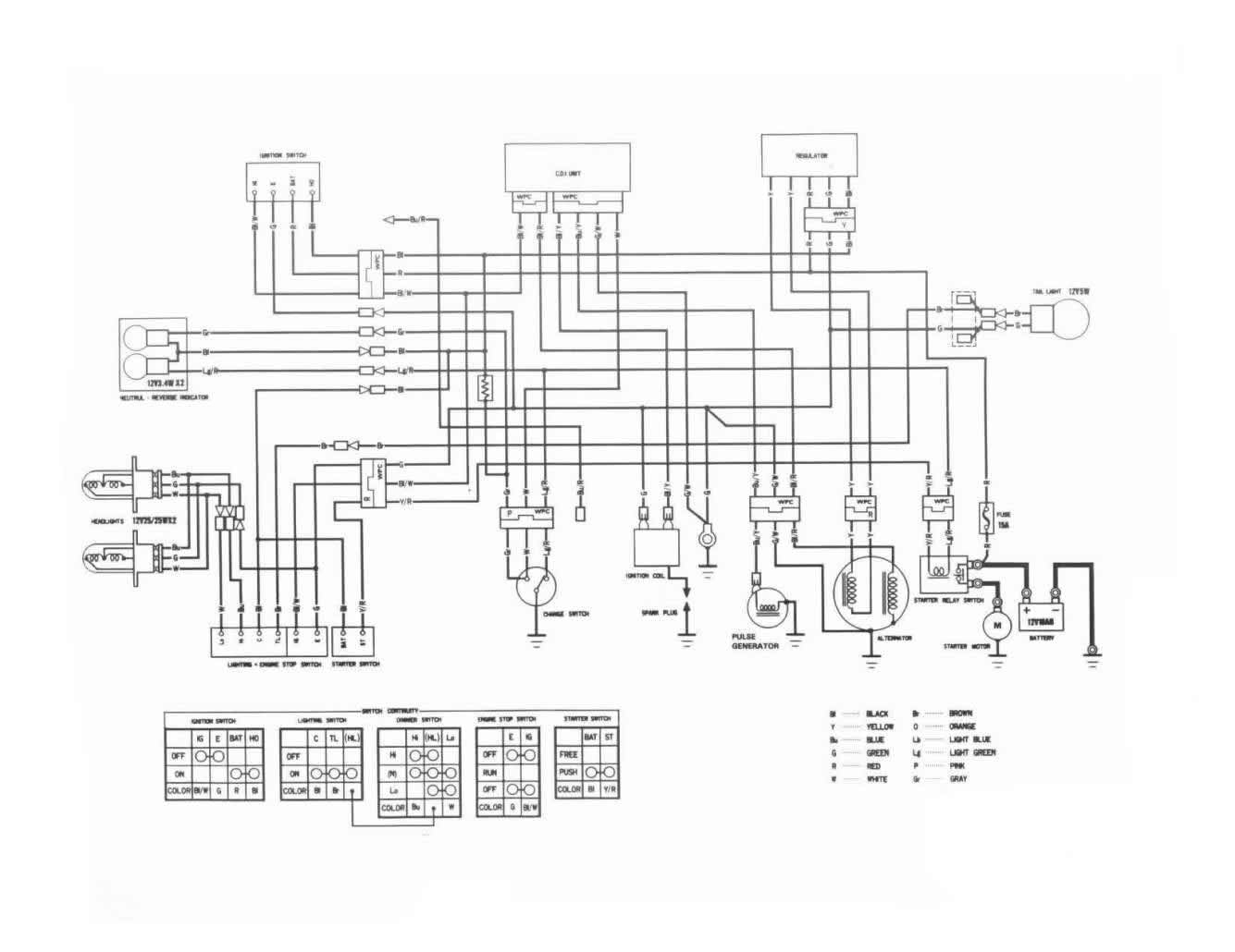 [ON_7747] Honda Fourtrax 300 Wiring Diagram Also Honda Trx
