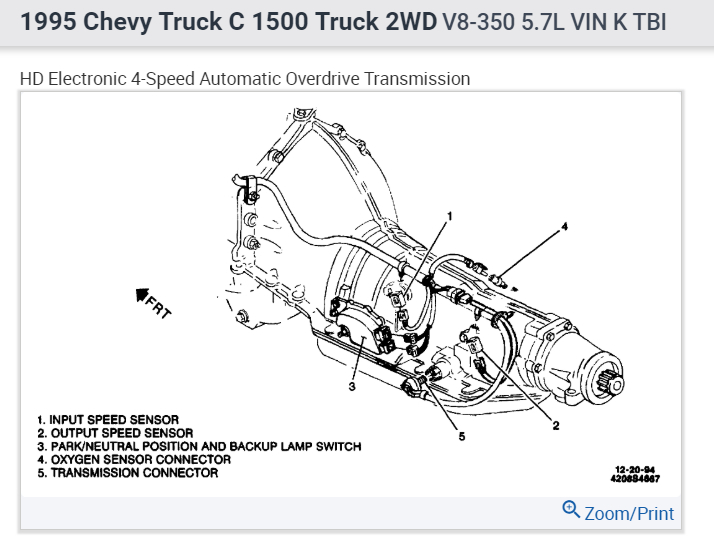 [HG_8887] Chevrolet 350 Transmission Diagram Schematic Wiring