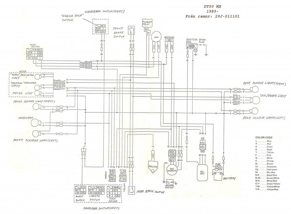 Yamaha Dt125R Wiring Diagram : Wg 6901 Yamaha Dt 250
