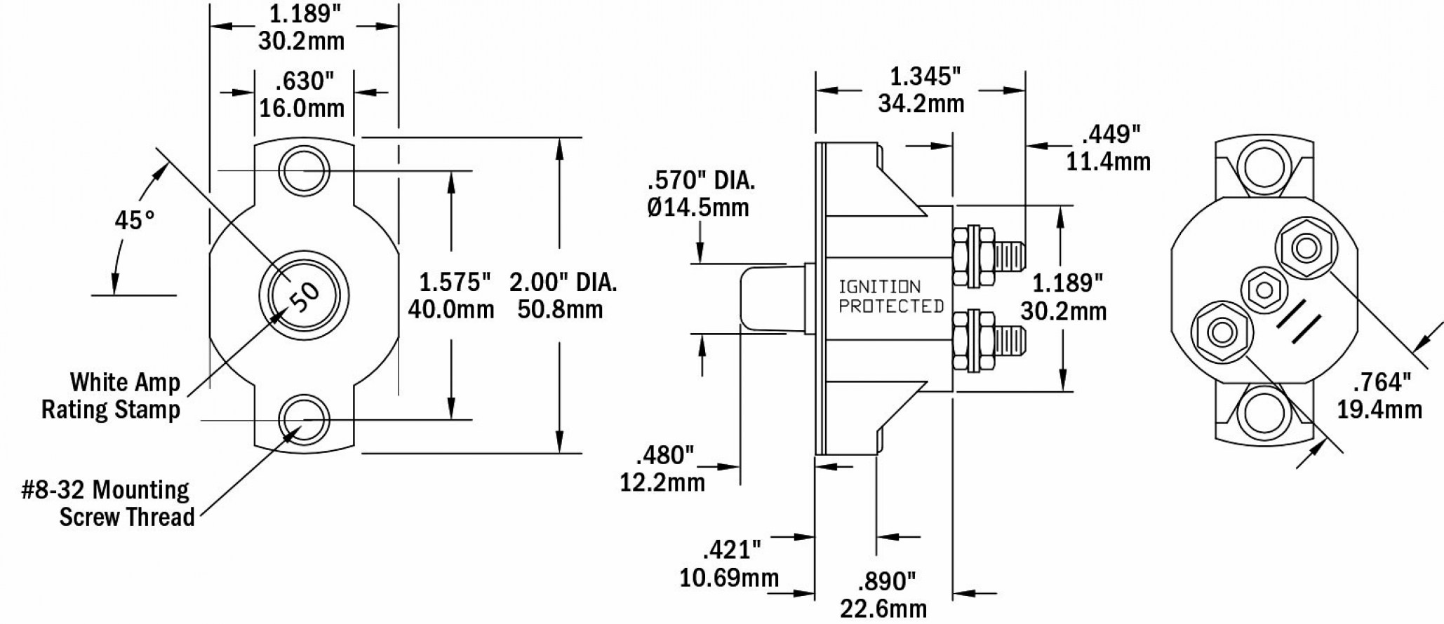 [OM_6387] Motor Plug Receptacle On Marinco Trolling Motor