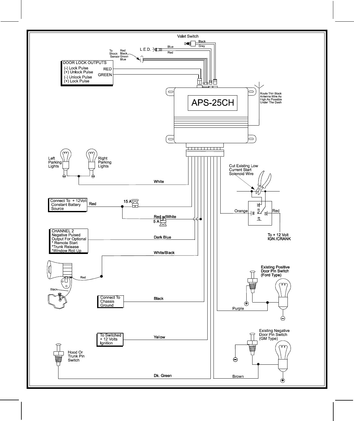 Pursuit Car Alarm Wiring Diagram