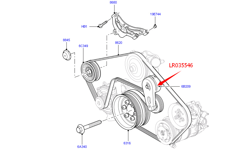 [XV_9932] Rover Discovery Serpentine Belt Diagram On Land