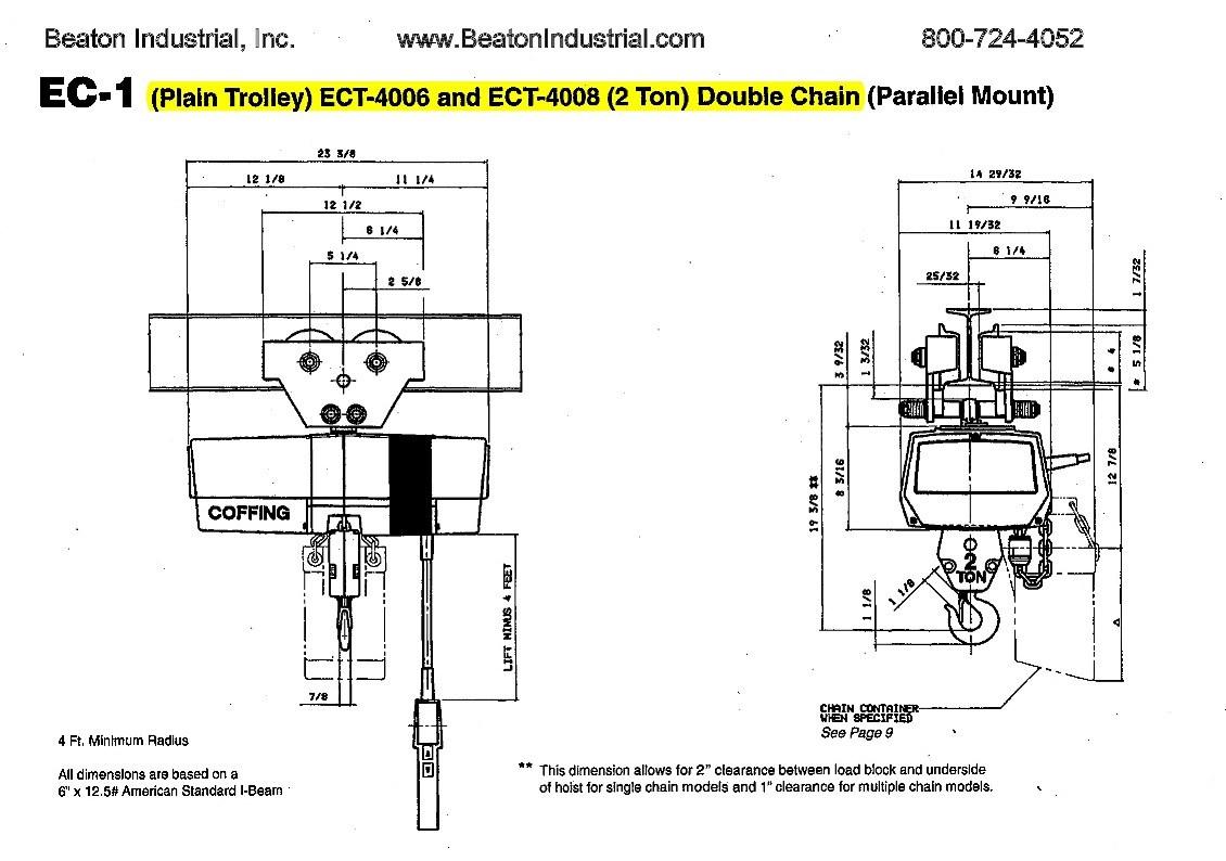 [DA_2571] 3 4 Ton Chain Hoist Diagram Wiring Diagram