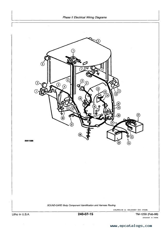 [BS_2667] 770 John Deere Fuse Box Wiring Diagram