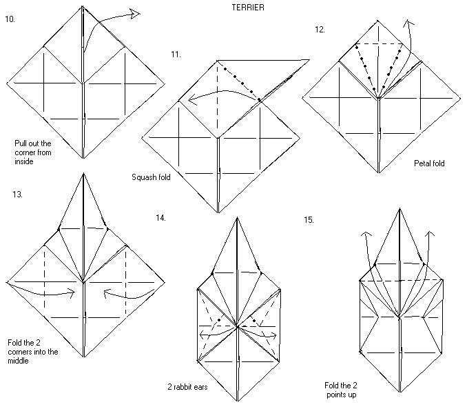 [TB_4452] Origami Eagle Diagramorigami Eagle