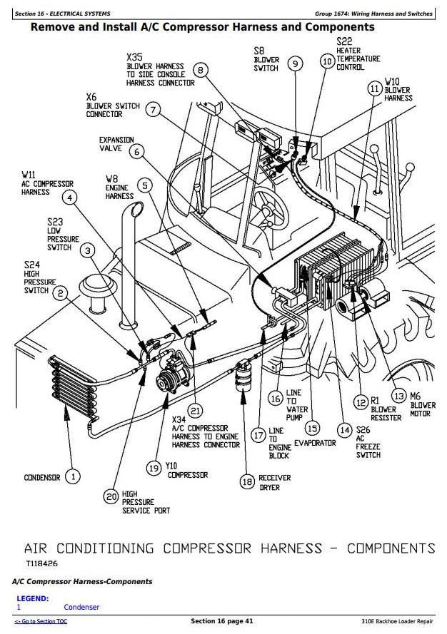 [NO_3383] John Deere 310C Backhoe Wiring Diagram John
