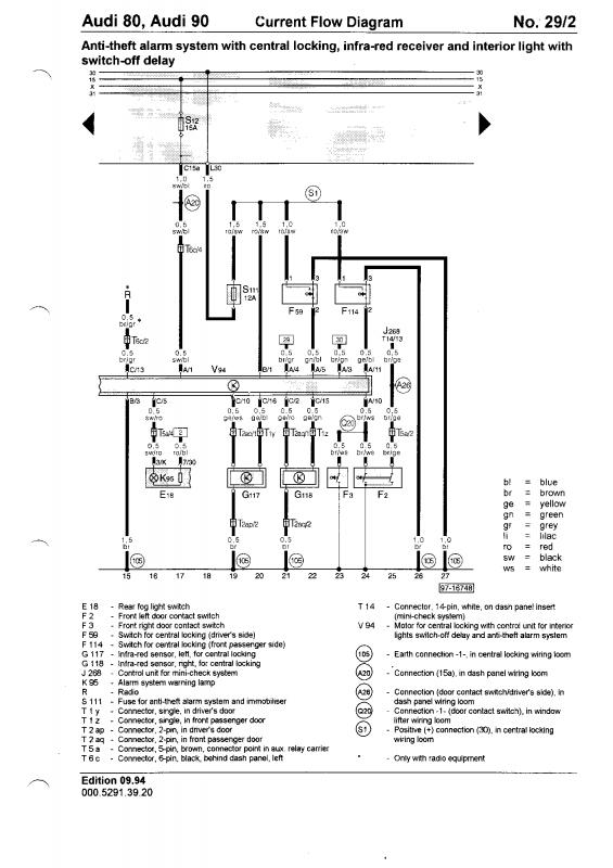 [HZ_2987] Audi 80 Central Locking And Alarm Control Unit