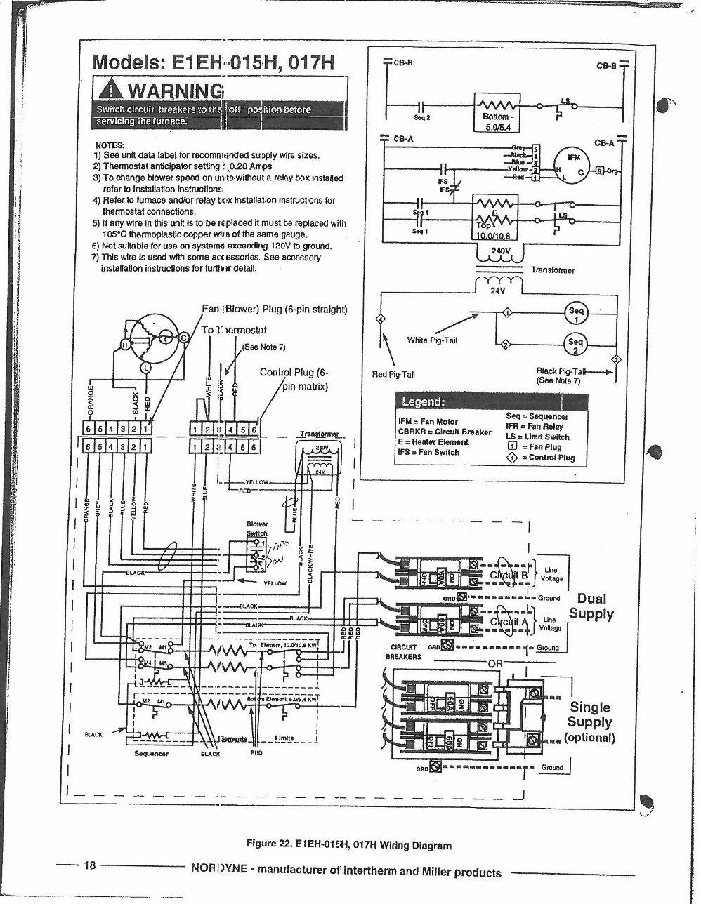Nordyne Electric Furnace Wiring Diagram : Diagram Furnace