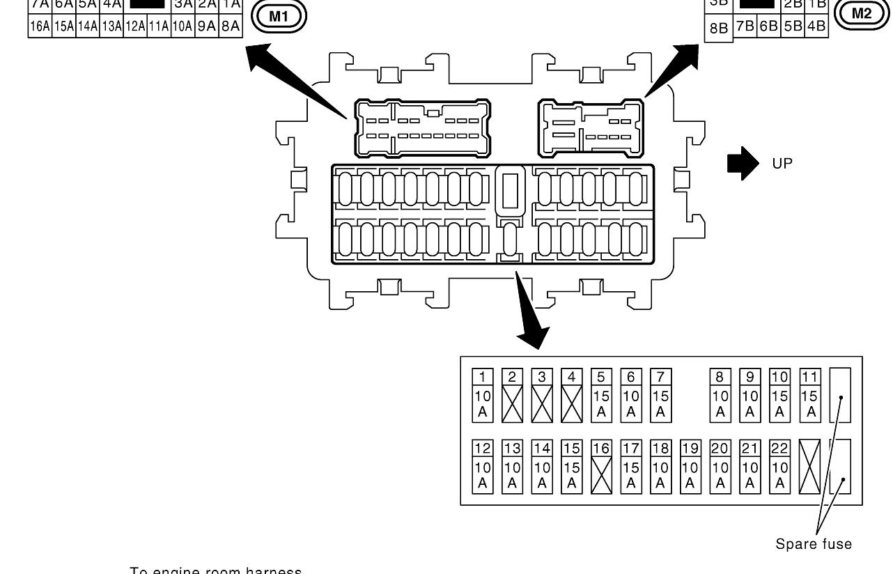 2008 Nissan Armada Fuse Box Diagram / Fuel Pump Ipdm