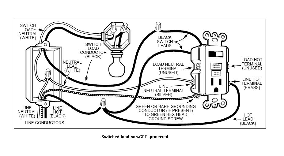Wiring Diagram Gfci And Light Switch In The Same Box