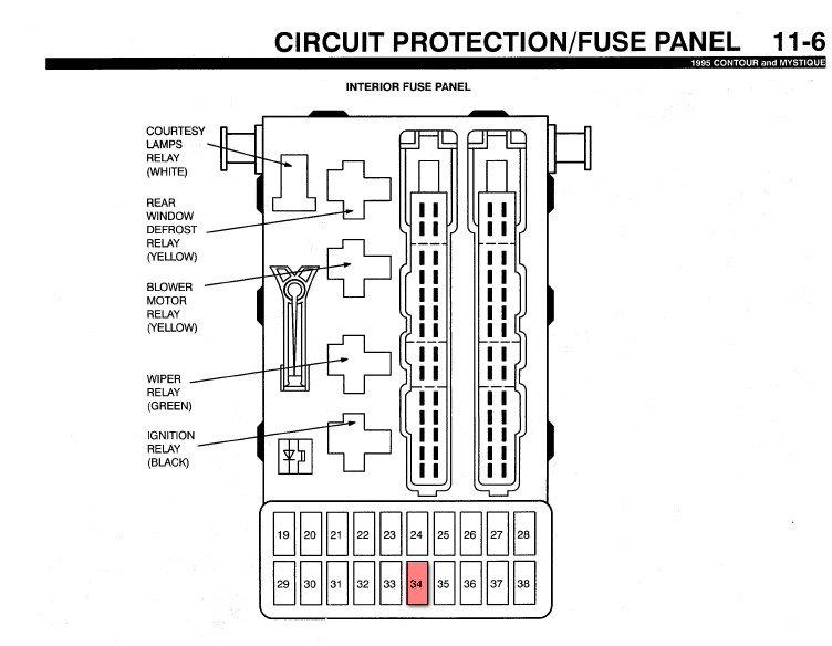 98 Ford Contour Wiring Diagram / 1998 Ford Contour Mercury