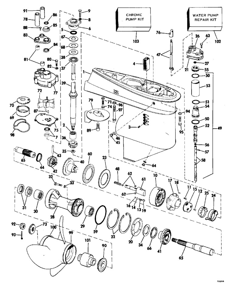 [VZ_2544] 1985 85 Hp Johnson Outboard Motor Wiring Diagram