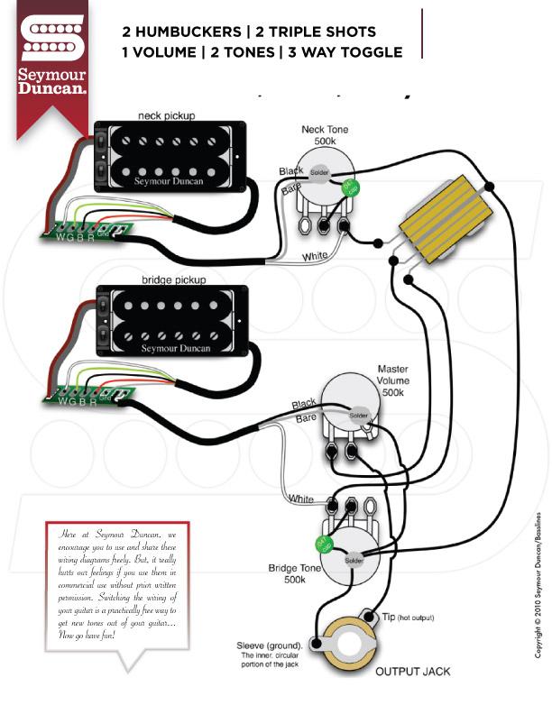 3 way switch with dual humbuckers seymour duncan wiring