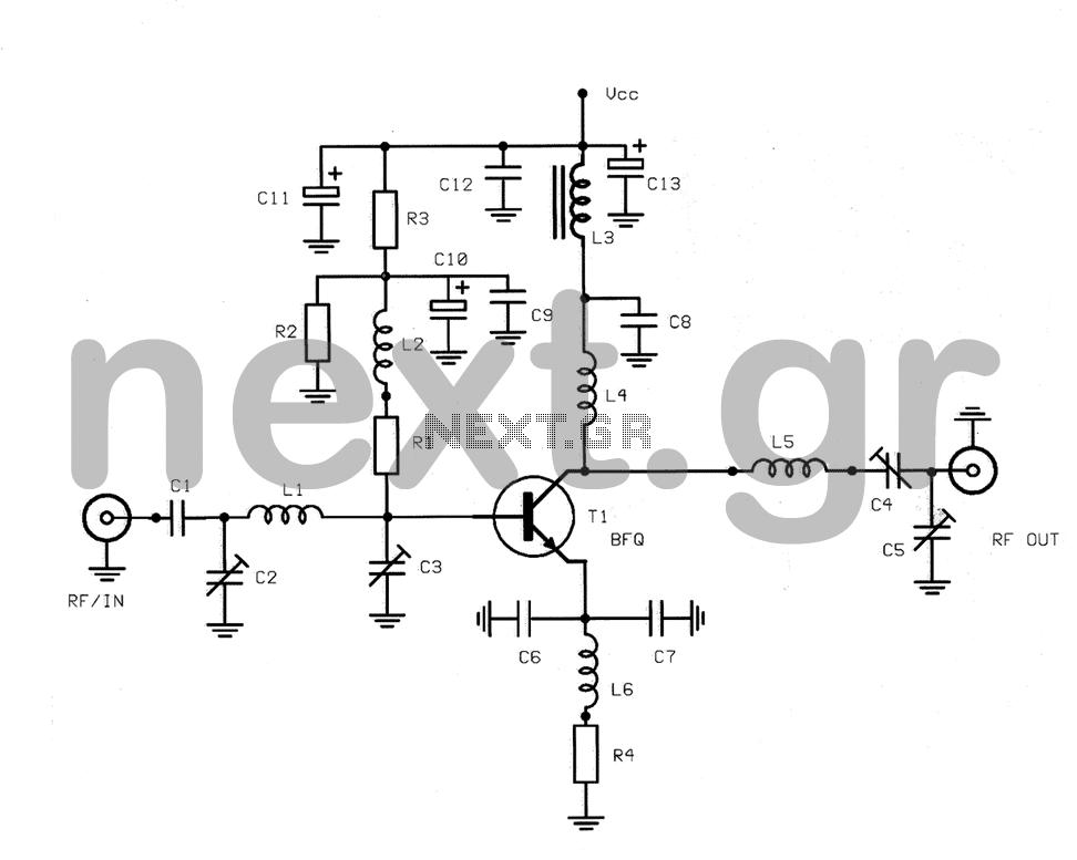 [ZE_6189] Wideband Uhf Amplifier Antenna Tv Amplifier