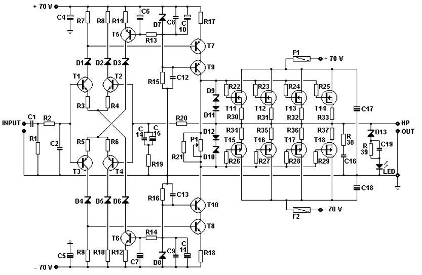 [NA_5786] 240W Mosfet Amplifier Schematic Wiring