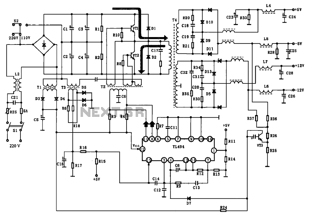 [TY_7943] Pc Switching Power Supply Wiring Diagram Free