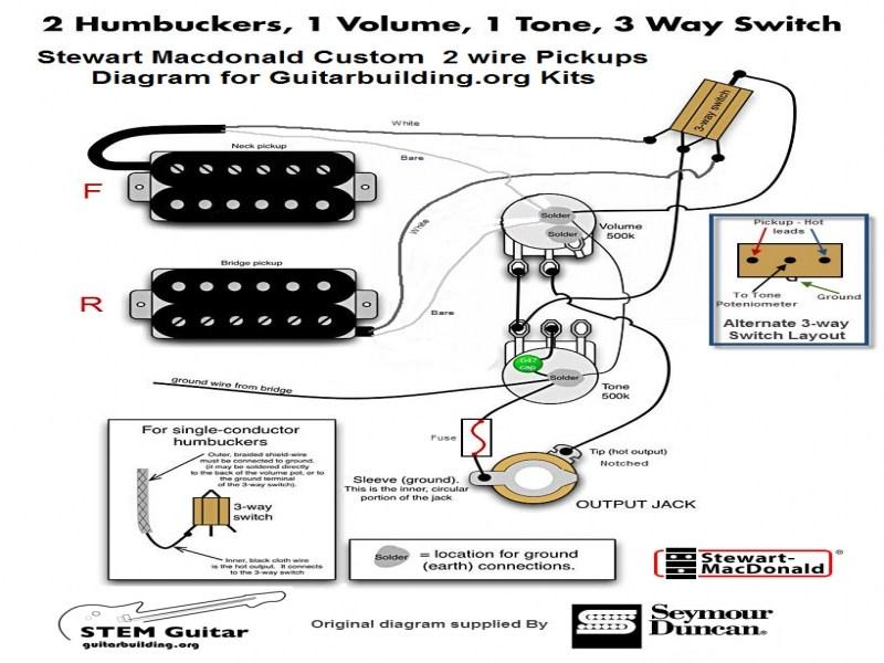 Single Conductor Humbucker Wiring Diagram