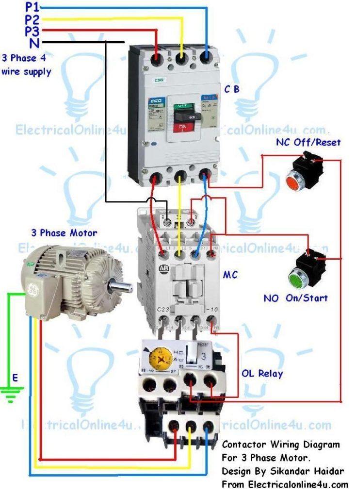 240 Volt Contactor Wiring Diagram : contactor, wiring, diagram, DO_4760], Motor, Starter, Wiring, Diagram, Schematic