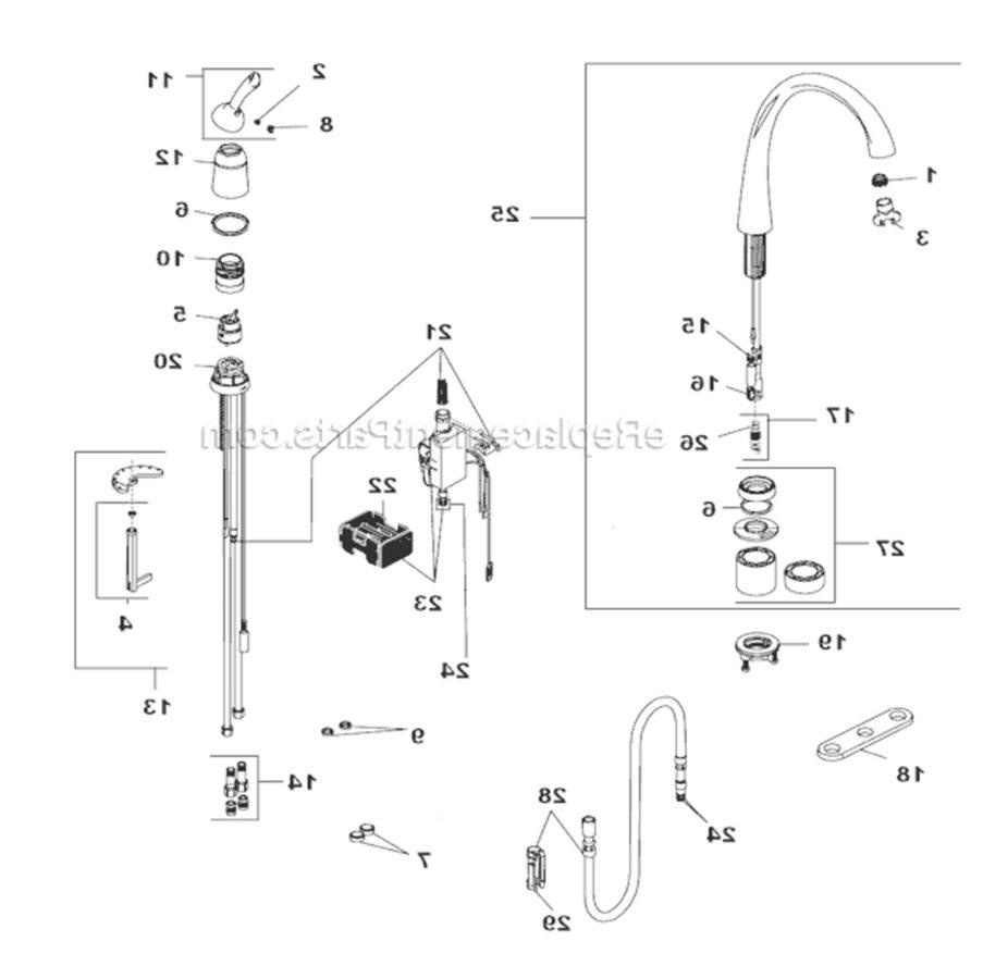 moen kitchen sink faucet parts diagram