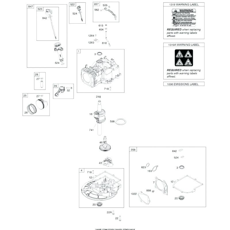 [OM_8725] Briggs And Stratton Parts Illustration Free Diagram