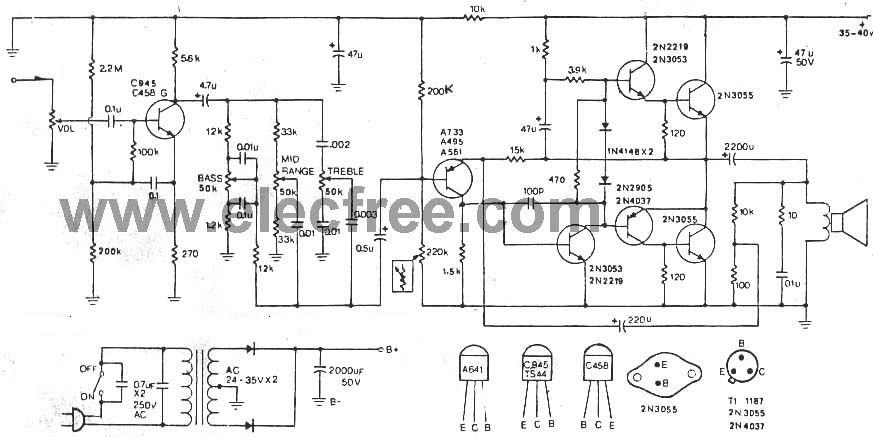 [CL_3097] Tda2030 40W Power Amplifier Circuit Diagram Free