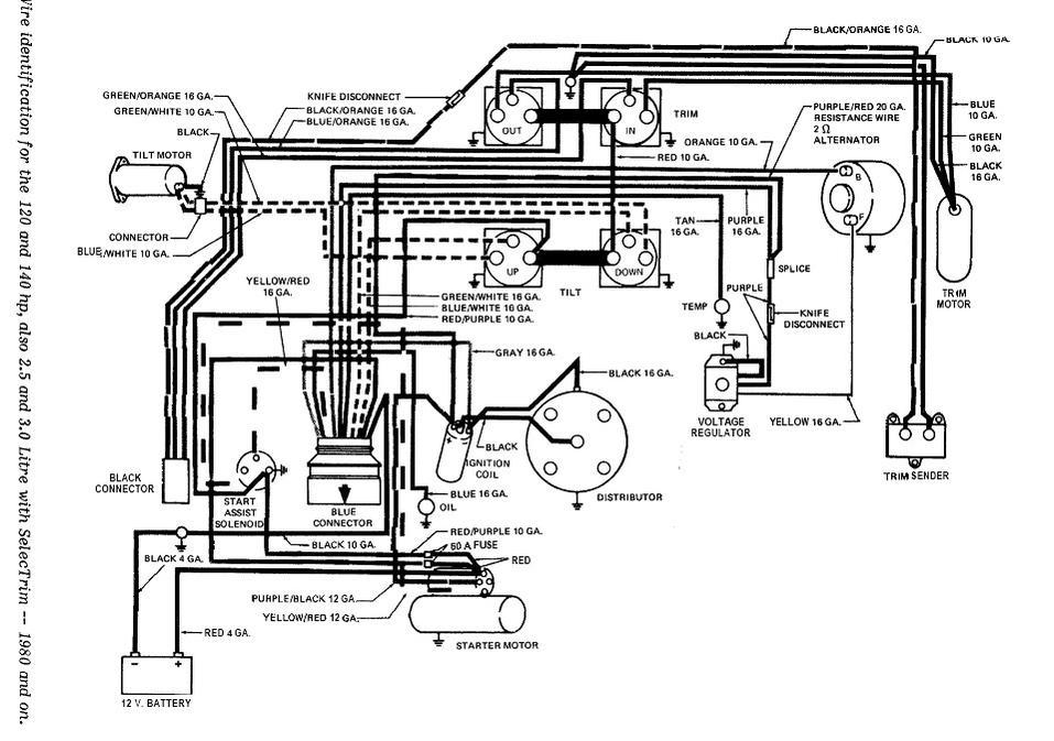 1984 Bayliner Ciera 2450 Starter Motor Wiring Diagram