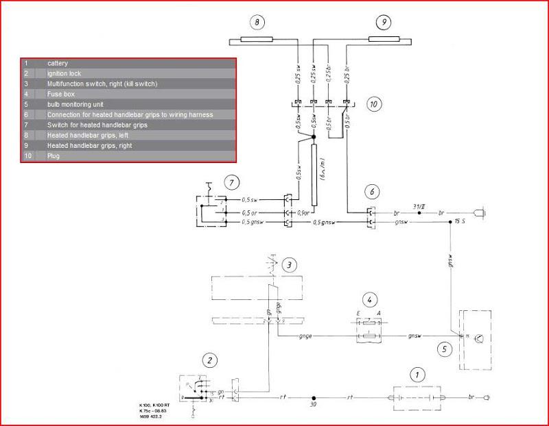 [YL_0785] Bmw K100Rs Wiring Diagram Schematic Wiring