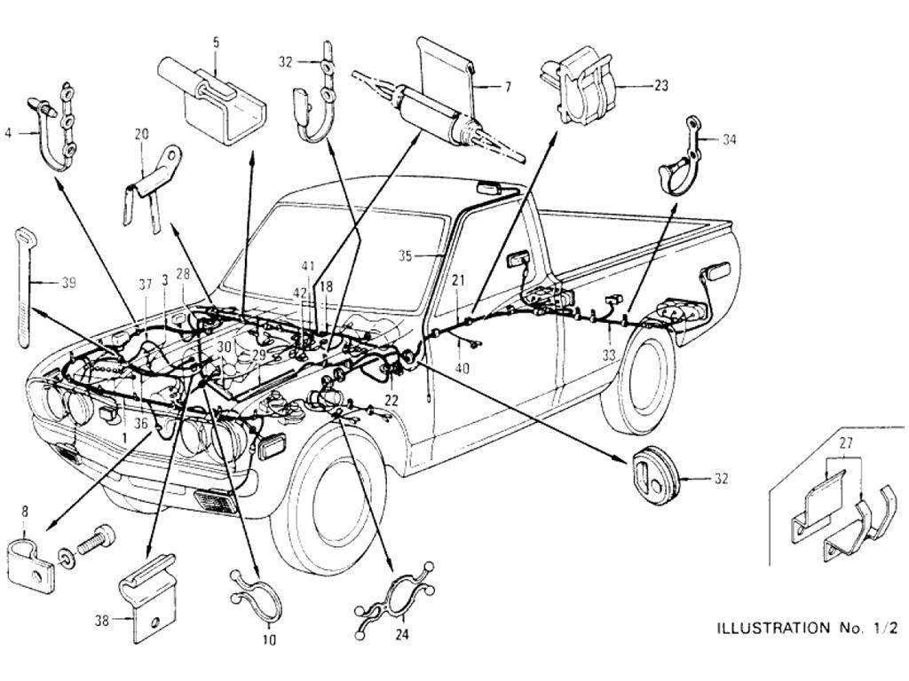 [MM_1134] 1973 Datsun 620 Wiring Diagram Download Diagram