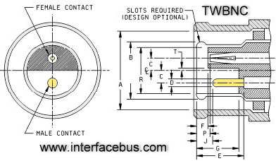 [RY_6124] Schematic Diagram Of Bnc Connector Parts And