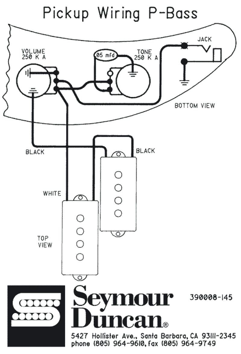 P Bass Pickup Wiring / P Bass Wiring Diagram / Using our