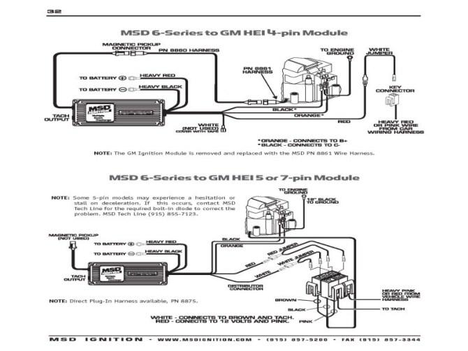 msd 6al wiring diagram hei  epiphone les paul custom pro