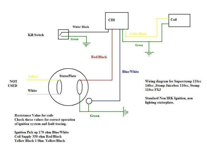 dirt bike wiring diagram light  th400 wiring diagram for