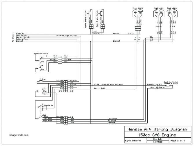 hensim atv wiring diagram 150cc  schematic wiring diagram