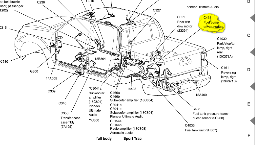 2004 Ford Explorer Fuel Pump Wiring Diagram