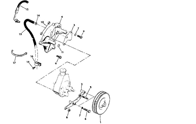 [XT_6356] Jeep Cj Series 304 360 Amc Engine Bracket