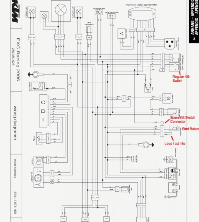 ktm 520 wiring diagram  description wiring diagrams quit