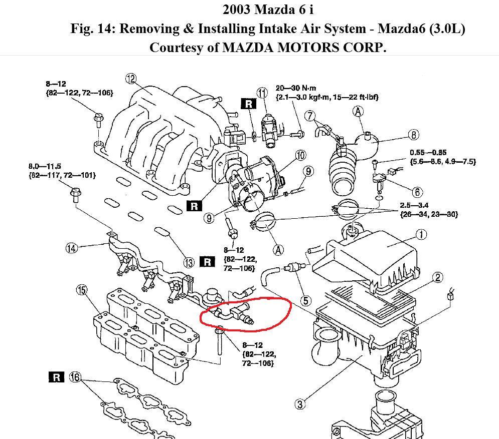 2004 Mazda Tribute Engine Diagram / 2004 Mazda 6 V6 Engine
