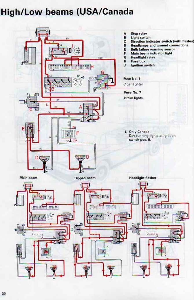 volvo 240 headlight wiring  wiring diagram powersteela